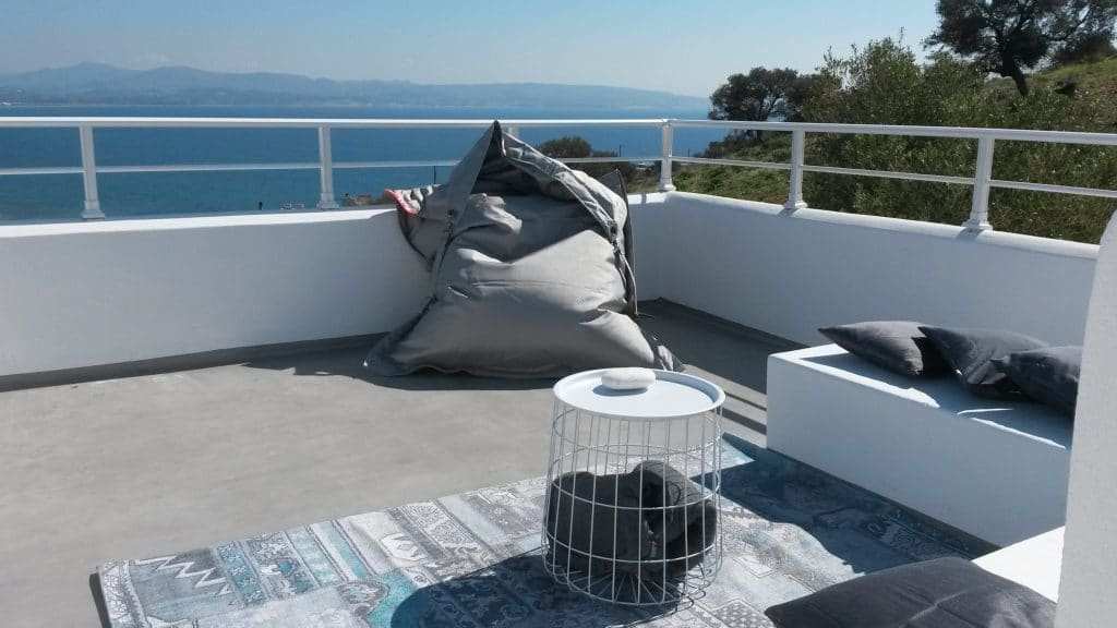 Roof deck terrace, private with stunning views