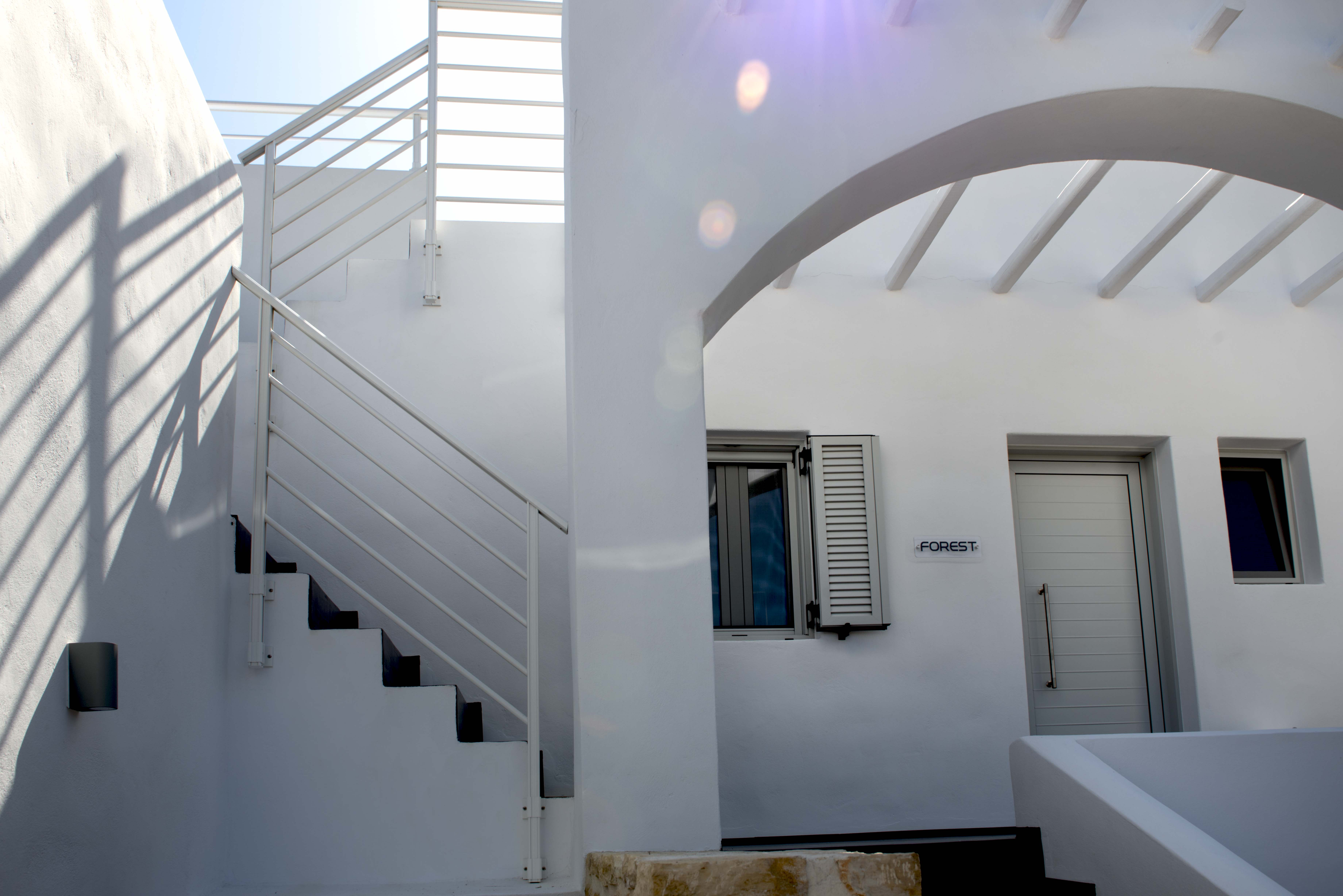 Galini Breeze Studio Entrance And Stairs To Private Roof Deck